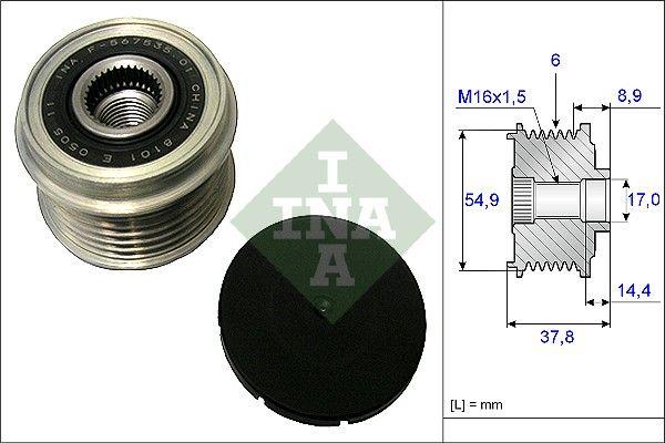Vratná/vodiaca kladka rebrovaného klinového remeňa INA 532 0228 10 532 0228 10
