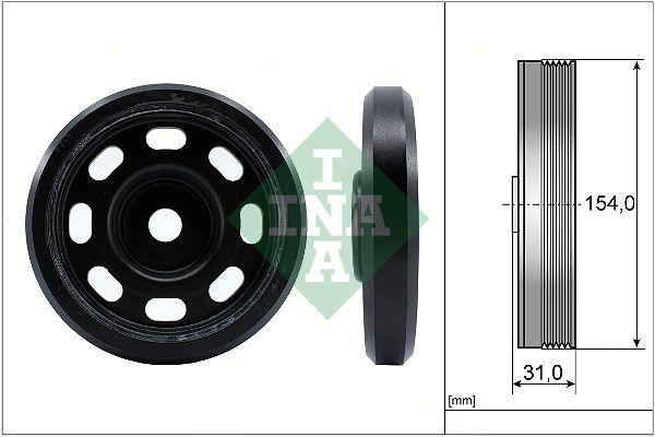 Napínacia kladka rebrovaného klinového remeňa INA 532 0025 10 532 0025 10
