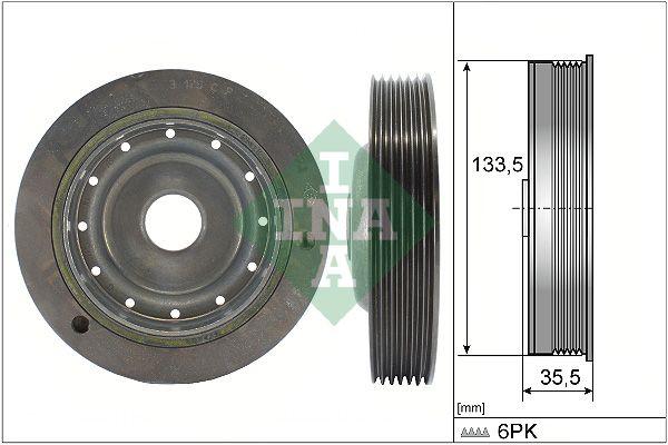 Tlmič vibrácií ozubeného remeňa INA 533 0096 10 533 0096 10