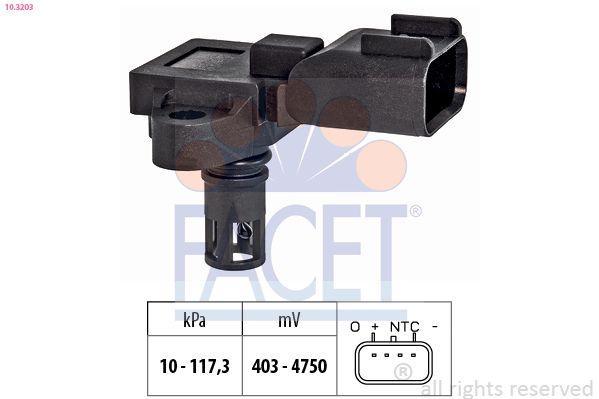 Senzor tlaku nastavenia výżky FACET 10.3186 10.3186