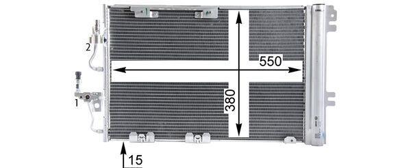 Výmenník tepla vnútorného kúrenia MAHLE AH 2 000S AH 2 000S