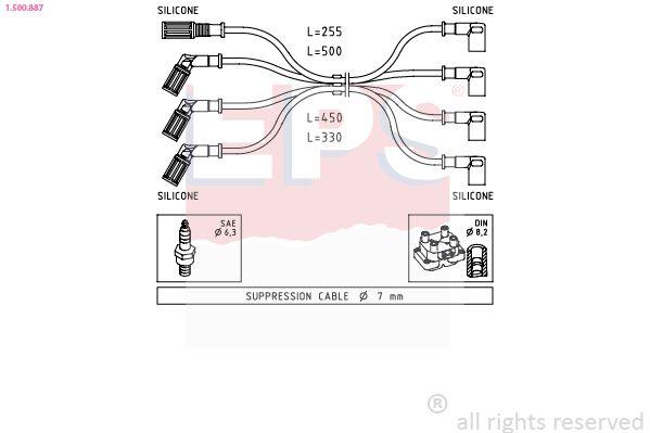 Spínač ovládania spojky (pre riadenie motora) EPS Made in Italy - OE Equivalent 1.810.159 1.810.159