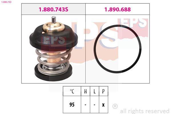 Snímač impulzov kľukového hriadeľa EPS Made in Italy - OE Equivalent 1.953.156 1.953.156