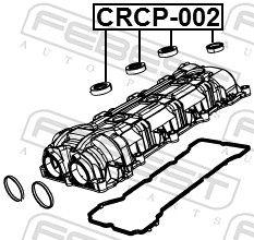 Tesniaci krúżok otvoru pre zap.sviečku FEBEST CRCP-002 CRCP-002