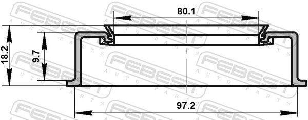 Tesniaci krúżok, Náboj kolesa FEBEST 95ADY-82971018X 95ADY-82971018X