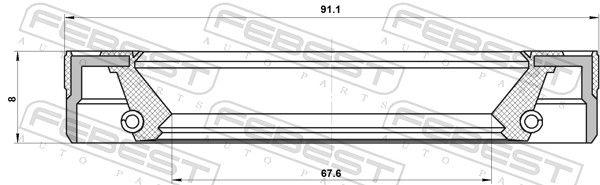 Tesniaci krúżok, Náboj kolesa FEBEST 95LES-69910813X 95LES-69910813X