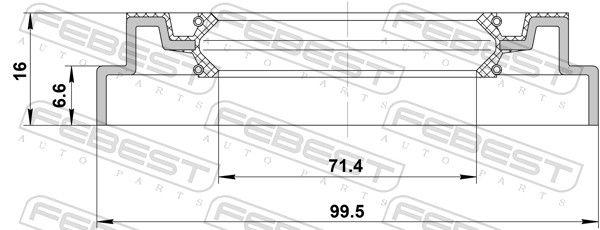 Tesniaci krúżok, Náboj kolesa FEBEST 95QDS-73990716X 95QDS-73990716X