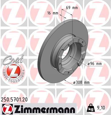 Brzdový kotouč ZIMMERMANN 250.5701.20