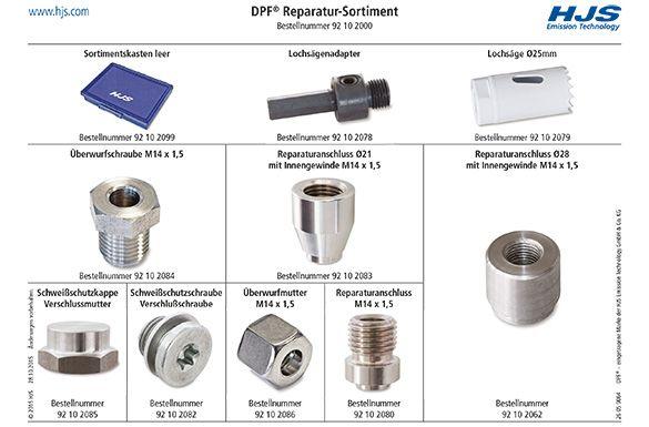 Přivařovací závit, senzor teploty výfukových plynů HJS 92 10 2000