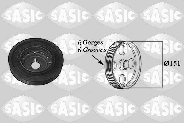 Řemenice, klikový hřídel SASIC 2154011