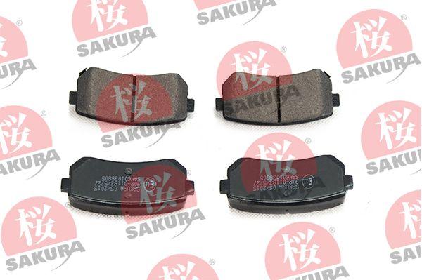 Sada brzdových destiček, kotoučová brzda SAKURA 601-03-8805